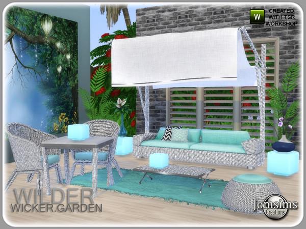 Wilder wicker garden set by jomsims at TSR image 6021 Sims 4 Updates