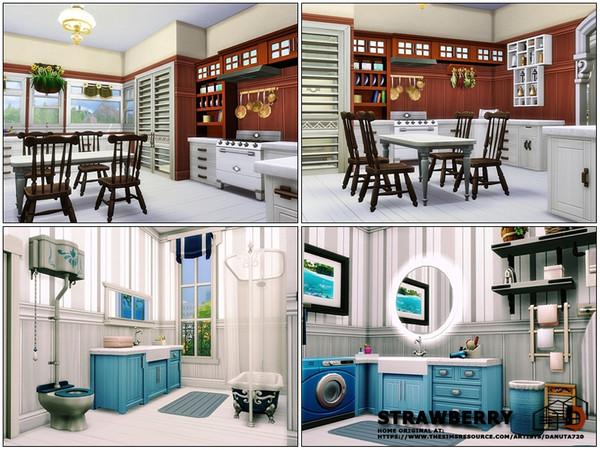 Sims 4 Strawberry house by Danuta720 at TSR