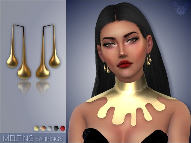 Sims 4 Melting Earrings at Giulietta