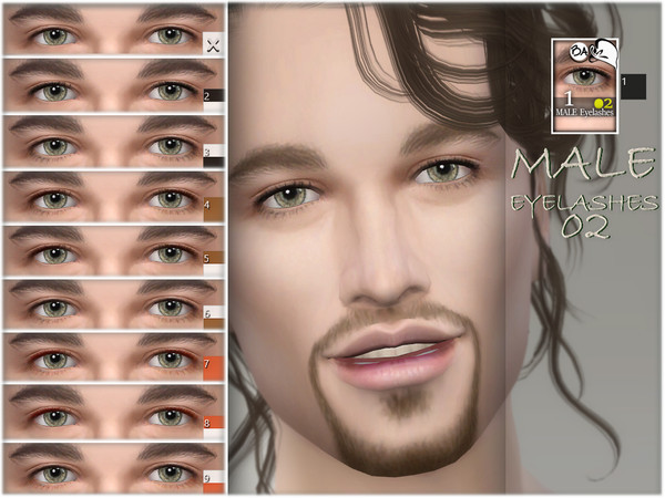 Sims 4 Male Eyelashes 02 by BAkalia at TSR