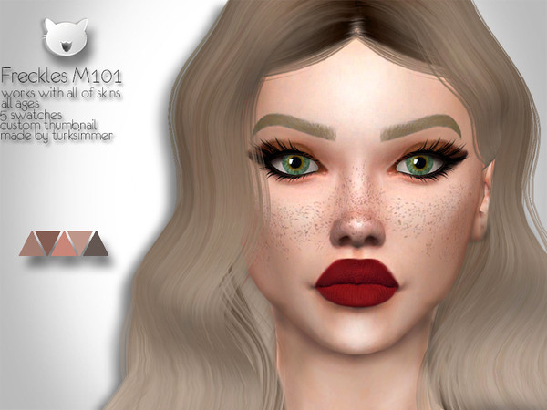 Sims 4 Freckles M101 by turksimmer at TSR