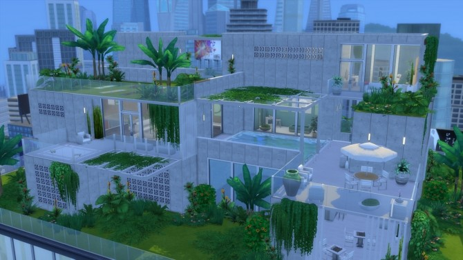 Sims 4 Urban Jungle Spa & Barh at ArchiSim