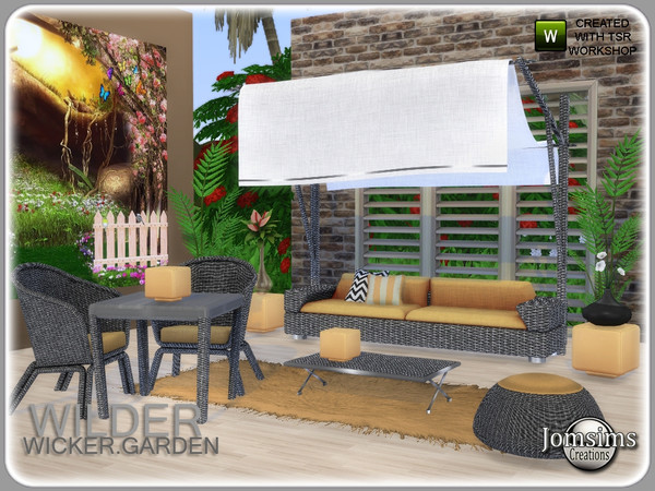 Wilder wicker garden set by jomsims at TSR image 6124 Sims 4 Updates