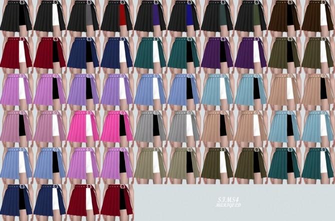 Sims 4 Layered Pleats Skirt With Shorts (P) at Marigold