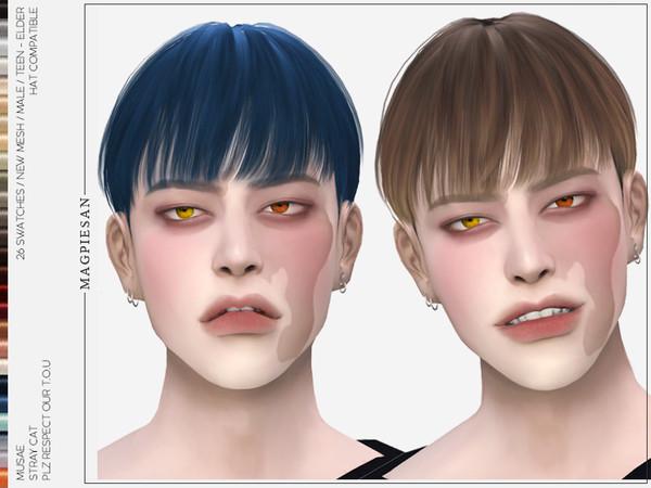 Stray Cat Hair by magpiesan at TSR image 620 Sims 4 Updates