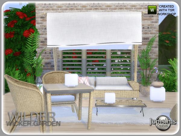 Wilder wicker garden set by jomsims at TSR image 6221 Sims 4 Updates