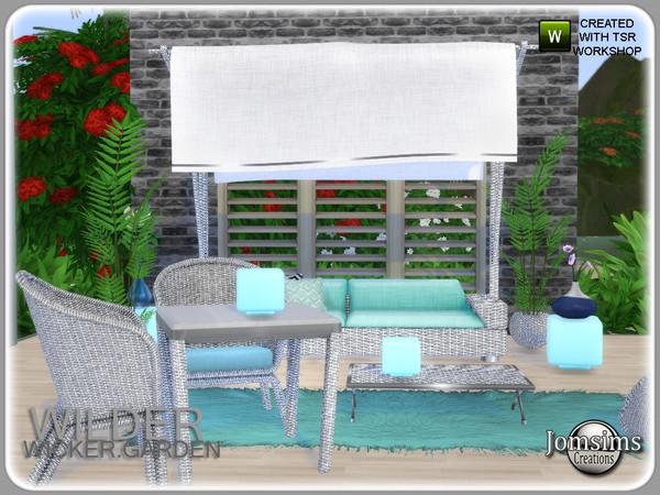 Wilder wicker garden set by jomsims at TSR image 6321 Sims 4 Updates