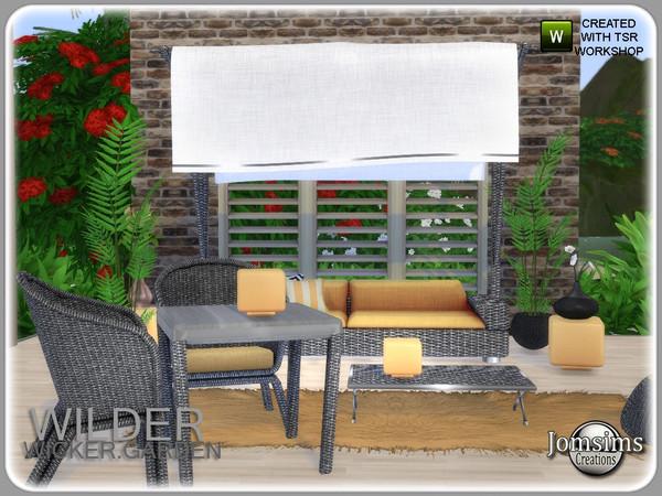 Wilder wicker garden set by jomsims at TSR image 6421 Sims 4 Updates
