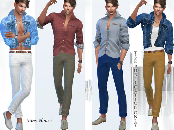 Sims 4 Classic mens pants by Sims House at TSR