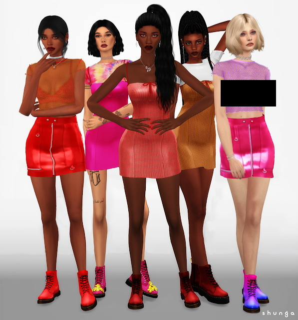 Boots & Photoshoot Outfits at Shunga image 662 Sims 4 Updates