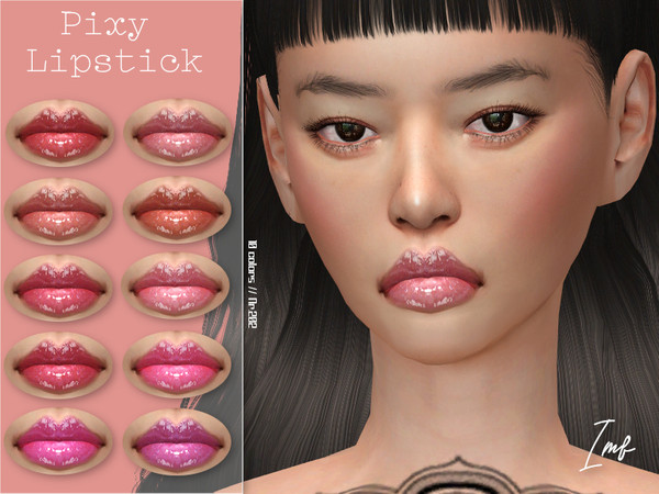 Sims 4 IMF Pixy Lipstick N.202 by IzzieMcFire at TSR