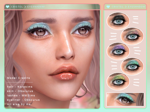 Christel Eyeshadow by Screaming Mustard at TSR image 6815 Sims 4 Updates