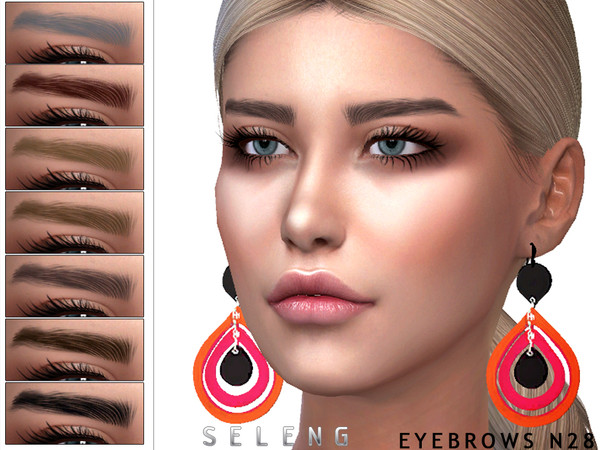 Sims 4 Eyebrows N28 by Seleng at TSR