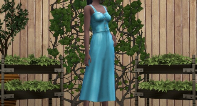 Sims 4 ONLJANY Buttoned dress by Lyralei at Mod The Sims