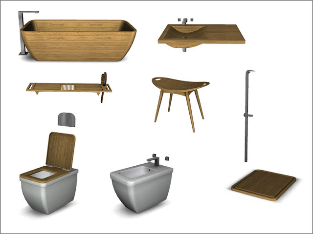 Aqua bathroom by Pilar at SimControl image 706 Sims 4 Updates