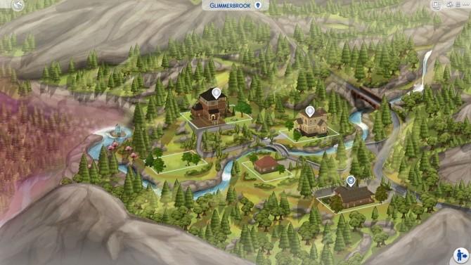 Sims 4 Glimmerbrook Fanart Map at DerShayan