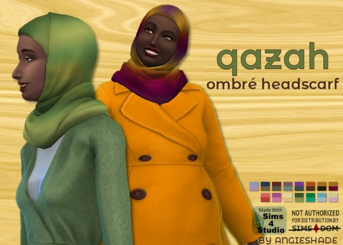 Qazah ombre headscarf at AngieShade – Intermittent simblr image 7110 670x479 Sims 4 Updates