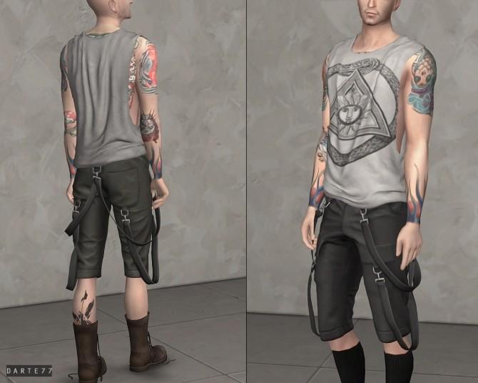 Sims 4 Ripped Sleeveless T Shirt at Darte77