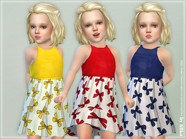 Toddler Dresses Collection P109 by lillka at TSR image 728 Sims 4 Updates