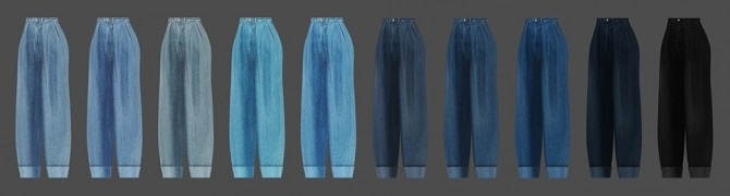 Wide roll up jeans AF at MMSIMS image 732 670x180 Sims 4 Updates