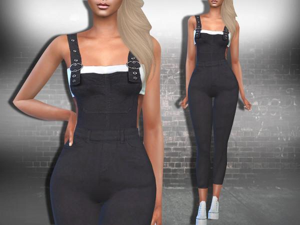 Sims 4 Black Denim Romper F by Saliwa at TS4 Celebrities Corner