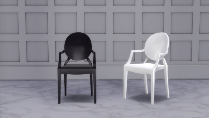 LOUIS GHOST CHAIR at Meinkatz Creations image 747 670x377 Sims 4 Updates