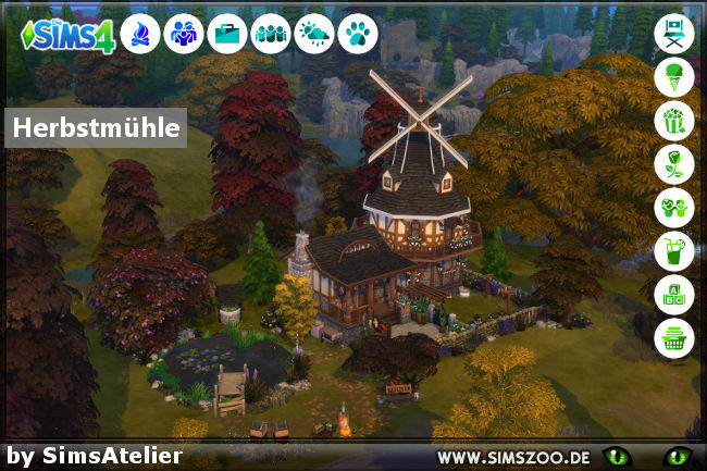 Sims 4 Autumn mill by SimsAtelier at Blacky's Sims Zoo