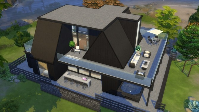 Sims 4 Single Dad Beach House at ArchiSim