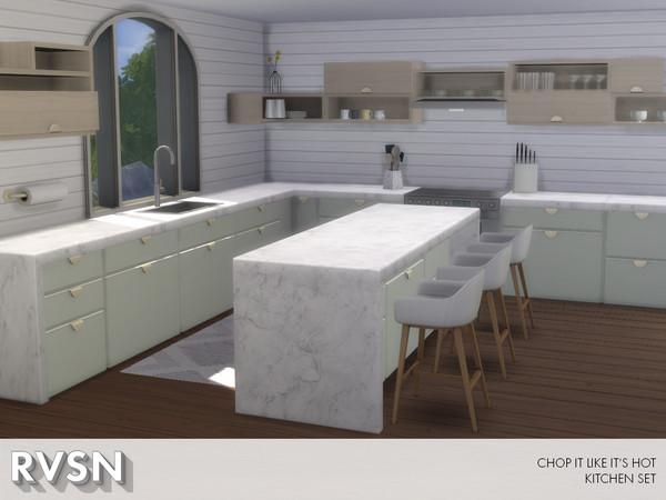 Chop It Like Its Hot Kitchen Set by RAVASHEEN at TSR image 790 Sims 4 Updates