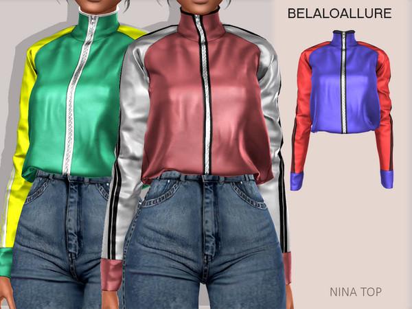 Sims 4 Belaloallure Nina top by belal1997 at TSR