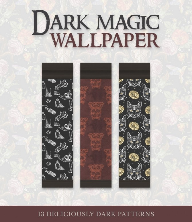 Dark Magic Wallpaper at SimPlistic image 798 670x773 Sims 4 Updates