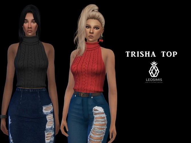 Sims 4 Trisha Top (P) at Leo Sims