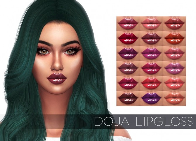 Sims 4 DOJA LIPGLOSS (P) at Kenzar Sims