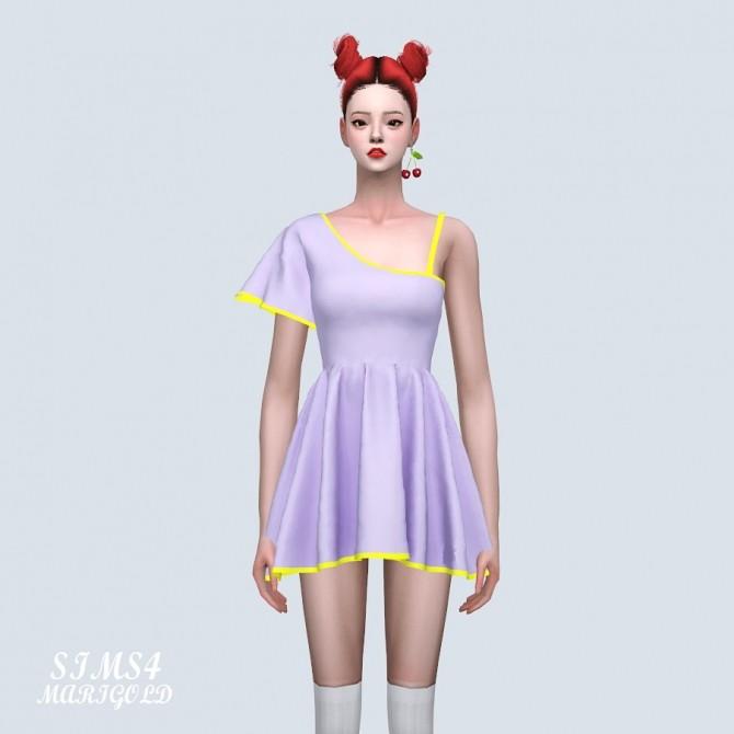 Sims 4 Funky Sleeves Mini Dress (P) at Marigold