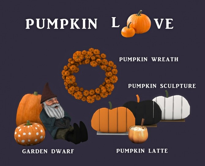 Sims 4 Pumpkin Love set (P) at Leo Sims