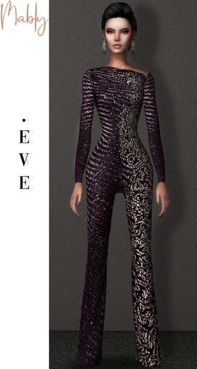 EVE JUMPSUIT at Mably Store image 8217 Sims 4 Updates