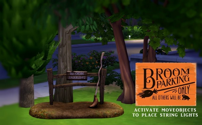 Sims 4 Broom Parking set (P) at Leo Sims