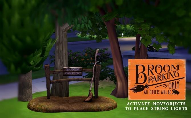 Sims 4 Broom Parking set (P) at Leo Sims