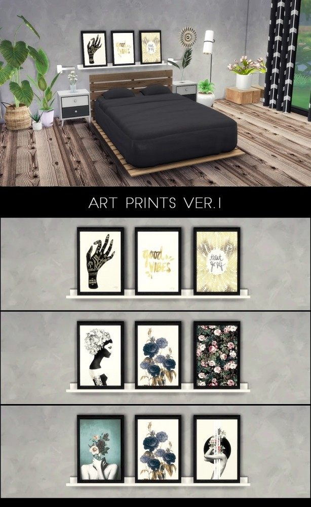 Sims 4 ART PRINTS VER1 at Kenzar Sims