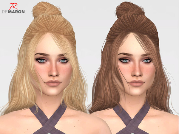 Sims 4 ON0910 hair retexture by remaron at TSR