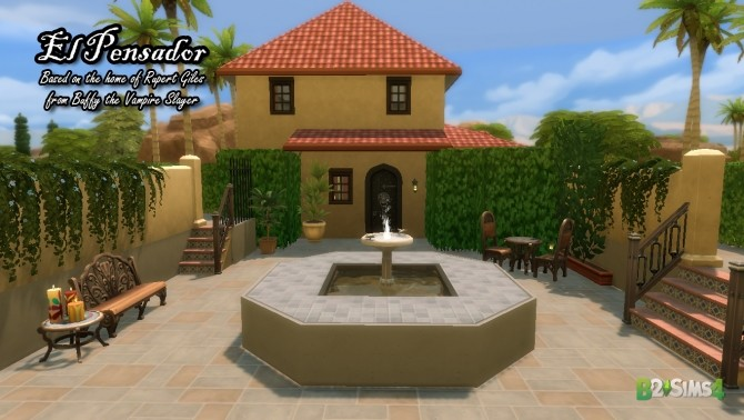 Sims 4 El Pensador house by Brunnis 2 at Mod The Sims