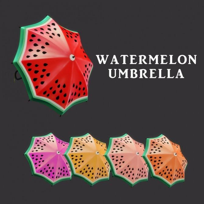 Sims 4 Watermelon Umbrella at Leo Sims