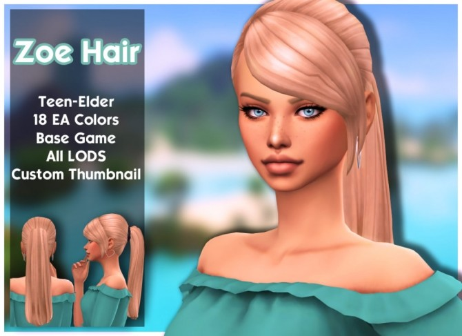 Zoe hair at MSQ Sims image 8621 670x487 Sims 4 Updates