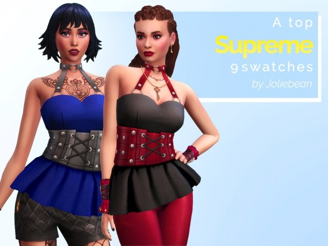 Sims 4 Supreme top in 9 swatches at Joliebean