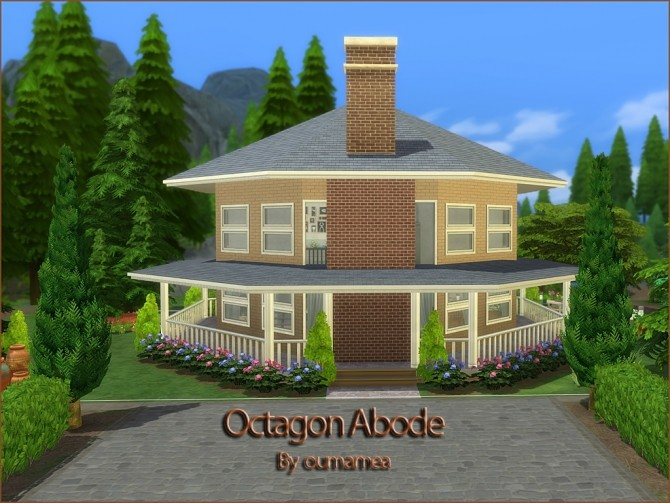 Octagon Abode No CC by oumamea at TSR image 8815 670x503 Sims 4 Updates
