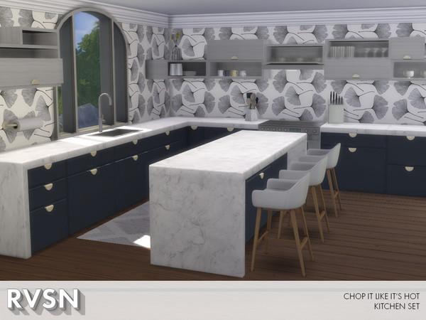 Chop It Like Its Hot Kitchen Set by RAVASHEEN at TSR image 890 Sims 4 Updates