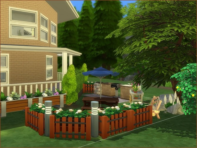 Octagon Abode No CC by oumamea at TSR image 9014 670x503 Sims 4 Updates