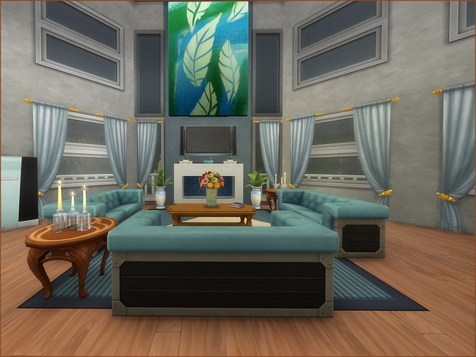 Octagon Abode No CC by oumamea at TSR image 9120 670x503 Sims 4 Updates