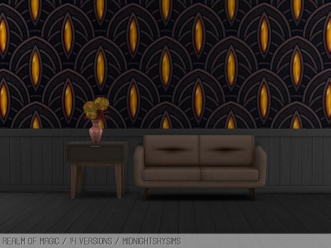 Sims 4 Art Deco wall at Midnightskysims