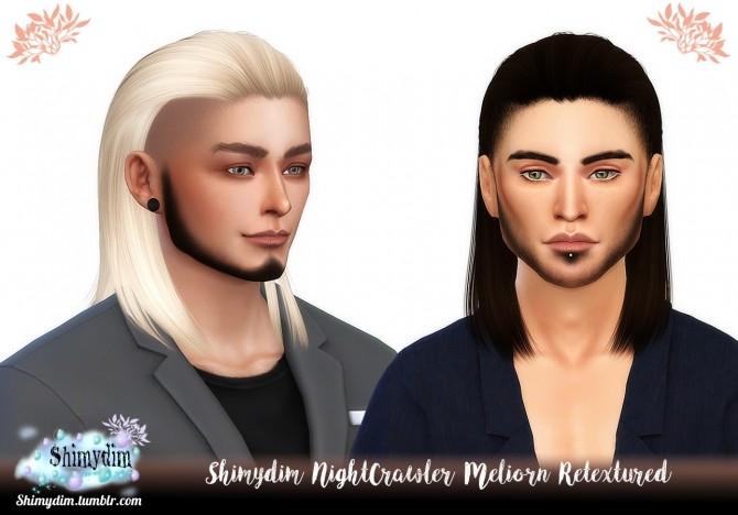 Sims 4 NightCrawler Meliorn Hair Retexture Naturals + Unnaturals at Shimydim Sims